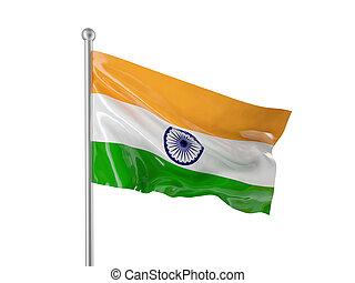 india flag - indian flag isolated on white