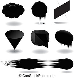 Fashion black speech bubble set