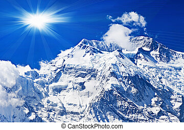 Annapurna mountain, Himalaya - Beautiful Annapurna mountain,...