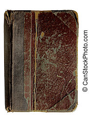 Tattered antique book isolated