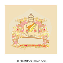 Vector of Chinese Traditional Artistic Buddhism Pattern