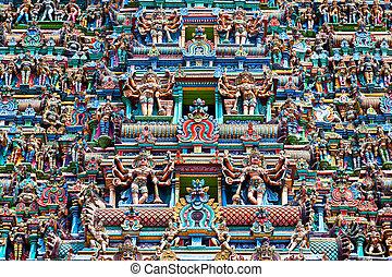 Relief of Menakshi Temple, Madurai, Tamil Nadu, India