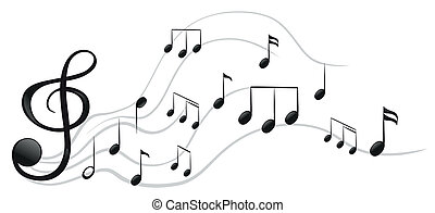 Different musical notes - Illustration of the different...