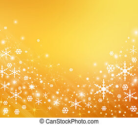 Snowflake - Orange background with a snowflake