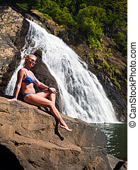 girl at the Falls