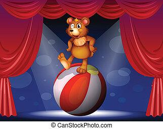 A bear at the circus