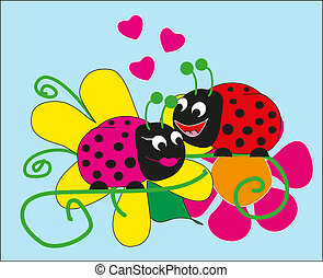 Lovers beetles vector