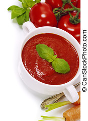 Traditional tomato soup