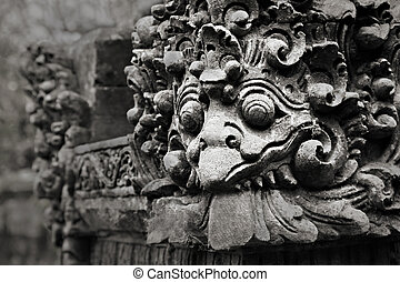 Ornate monster - BALI, INDONESIA - FEBRUARY 26: White bird...