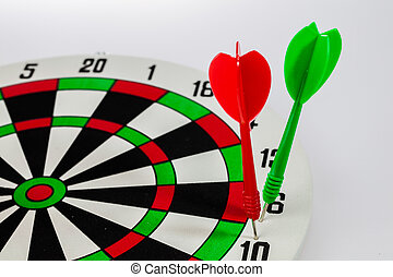Missed Target - Isolated of the darts missed target on the...