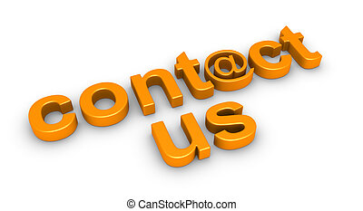 """contact us"" word on the ground - 3d ""contact us"" word using..."