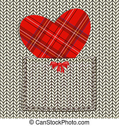 knitted fabric for Valentine