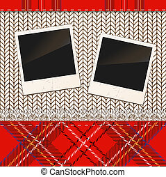 Scrap holiday vintage set of photo frames