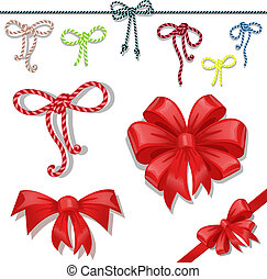 Set of celebratory bows