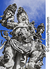 Kumbakarna Laga statue in Eka Karya Botanical Garden,...