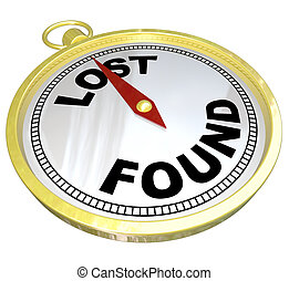 Lost and Found Words Gold Compass Finding Directions - Lost...