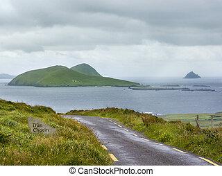 Great Blasket Island from Dunquin - Great Blasket Island,...