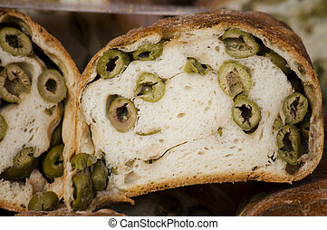 olive bread - Bread with olive