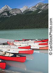 Canoes at Lake Louise