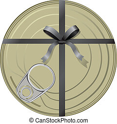 Conservatives gift wrapped in a ribbon with a bow. Vector...