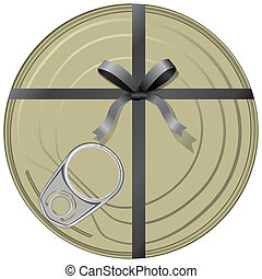 Conservatives gift wrapped in a ribbon with a bow Vector...