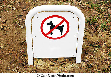 prohibited area for dogs sign