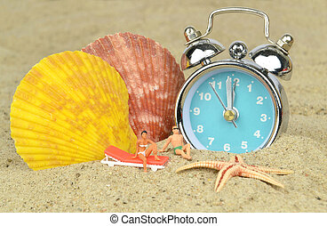Last Minute Holiday - Last minute holiday concept with clock...