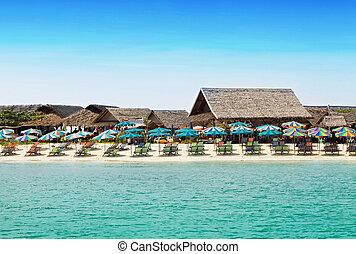 Beach resort - Vew from sea to the beach resort