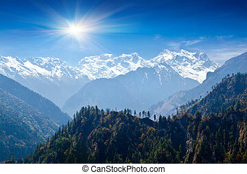 Himalayas landscape, Nepal - Beautiful landscape in...