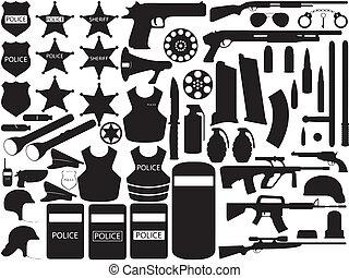 policía, herramientas