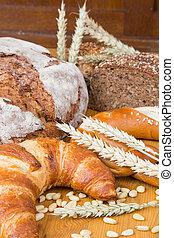 diferente, productos, panadería, tipos,  bread