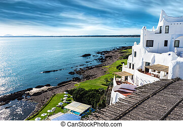 Casapueblo Punta del Este Beach Uru - A view of the...