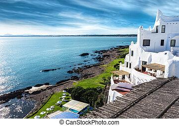 Casapueblo Punta del Este Beach Uru - A view of the...