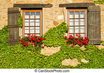 beautiful window in France - Beautiful window in Burgundy ,...