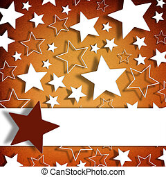 Blank greeting card on stars background