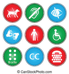 Accessibility icons - A vector illustration of accessibility...