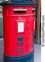 Royal Mail letter box - Detail of Royal Mail letter box...