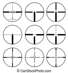 Cross hair and target set Vectornbsp; illustration - Cross...