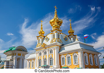 Church in Peterhof, St Petersburg - Church of Saints Peter...