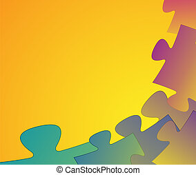 puzzle background - Stylish vibrant abstract colorful puzzle...