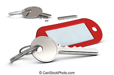 Locksmith Service, Locksmithing concept - Duplicated key and...