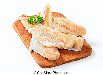 Fresh fish fillets - Studio shot of fresh fish fillets