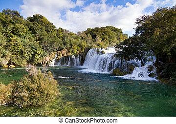 Skradinski waterfall Krka - Skradinski waterfall in Krka...