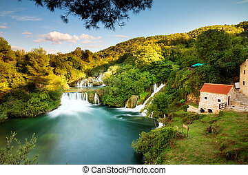 Krka morning panorama - Beautiful long exposure panorama...