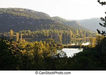 Krka morning panorama