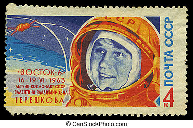 USSR - CIRCA 1963: stamp printed in Russia, shows portrait...