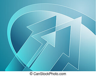 Arrows illustration - Upwards forward moving arrows abstract...