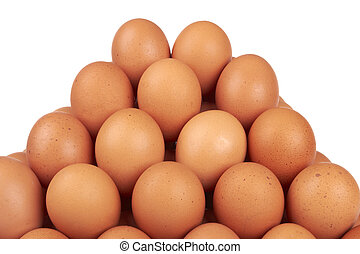 brown eggs  - group ordered chicken brown eggs