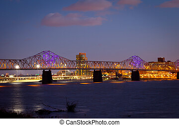 Louisville Skyline - Dr Martin Luther King Jr Expressway,...