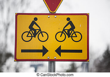 Conflict of interest - Two cyclers on collision route